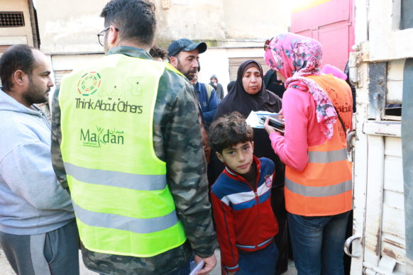 Winter kit distribution for 88 families